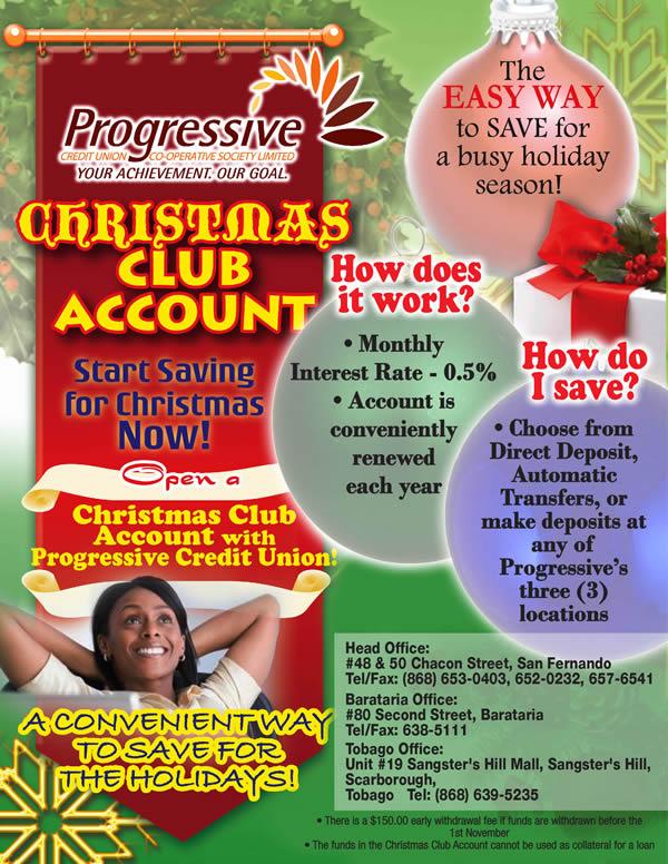 Christmas Account.Christmas Club Account Progressive Credit Union